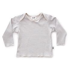 Achat Hauts bébé Tee-shirt à Carreaux Gris et Bleu - 6 Mois