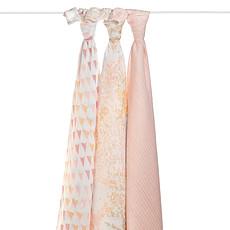 Achat Textile Pack de 3 Maxi-Langes Silky Soft - Metallic Primrose