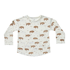 Achat Hauts bébé T-shirt Buffalo Ivoire - 6/12 Mois