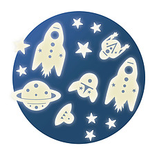 Achat Sticker Mission Espace - Stickers Phosphorescents