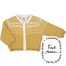 Achat Vêtement layette Cardigan Alfred en Jacquard - Jaune
