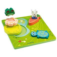 Achat Mes premiers jouets Puzzle Relief - 1, 2, 3 Froggy