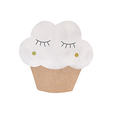 Achat Suspension  décorative Applique Cupcake - Blanc