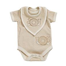 Achat Body et Pyjama Body + Bavoirs à rayures 3-6M Spots & Stripped