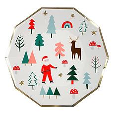 Achat Anniversaire & Fête Lot de 8 Grandes Assiettes de Noël