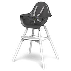 Achat Chaise haute Chaise Haute Evolu 2 Pieds Blancs - Gris