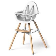 Achat Chaise haute Chaise Haute Evolu 2 Pack Complet - Bois et Blanc