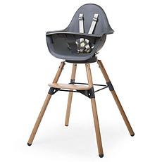 Achat Chaise haute Chaise Haute Evolu One.80° Pieds Bois - Anthracite