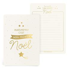 Achat Anniversaire & Fête Grande Carte Mon Premier Noël Or
