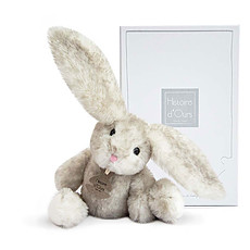 Achat Peluche Fluffy le Lapin - Perle - 27 cm