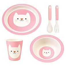Achat Coffret repas Set Repas Cookie Bamboo Chat 5 Pièces