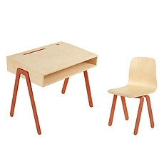 Achat Table & Chaise Set Bureau + Chaise Orange 2 - 6 ans