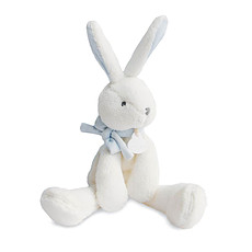 Achat Peluche Lapin Chic Noeud Bleu