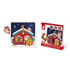 Achat Mes premiers jouets Puzzle 3 Niveaux - La Nuit de Noël