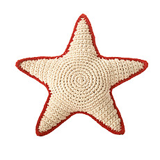 Achat Peluche Hochet Sea Star en Crochet - Rouge