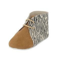 Achat Chaussons & Chaussures Boots DANDY 6/12 Mois - Zebre / Camel