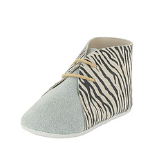 Achat Chaussons & Chaussures Boots DANDY 3/6 Mois - Zebre / Bleu