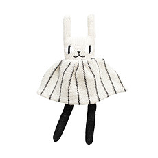 Achat Doudou Soft Toy Rabbit Black & White