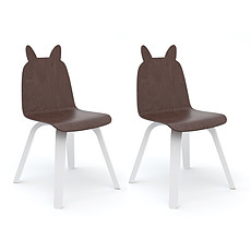 Achat Table & Chaise Lot de 2 Chaises Play Lapin - Noyer