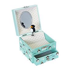 Achat Boîte à musique Boîte à Bijoux Musicale Phosphorescente Pingouin