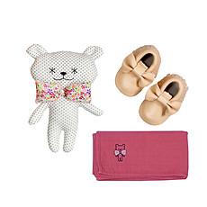 Achat Textile Box Chaussons & Lange Fille - Rose
