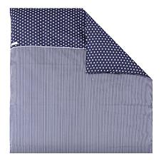 Achat Linge de lit Housse de Couette pour Berceau - Bleu et Etoiles Blanches