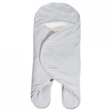 Achat Chancelière Babynomade Double Polaire Gris Perle et Blanc - 0/6 Mois