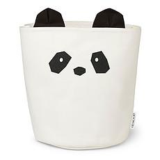 """Achat Panier & corbeille Panier de Rangement Ella """"Panda"""" - Solid Crème de la Crème - 30 x 25 cm"""