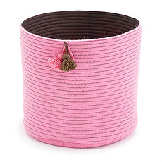 Achat Panier & corbeille Corbeille Pompons L - Rose Tendre