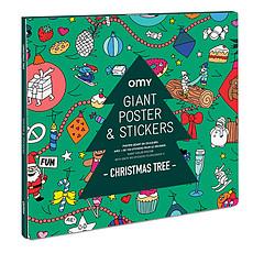 Achat Livre & Carte Poster Géant à Colorier et Stickers - Christmas Tree
