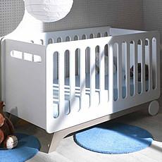 Achat Lit bébé Lit Bébé Evolutif Bonheur Blanc et Lin - 70 x 140 cm