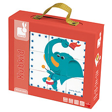 Achat Mes premiers jouets Kubkid - 9 cubes Circus