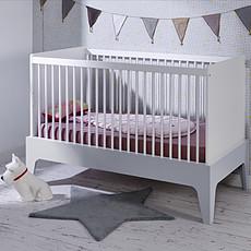 Achat Lit bébé Lit Bébé Paris Blanc et Gris - 70 x 140 cm