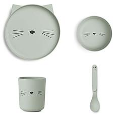 Achat Coffret repas Set de vaisselle Cat - Menthe