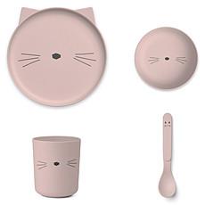 Achat Coffret repas Set de vaisselle Cat - Rose