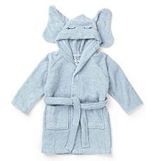 Achat Linge & Sortie de bain Peignoir Lily Elephant Solid Baby Blue - 1/2 Ans