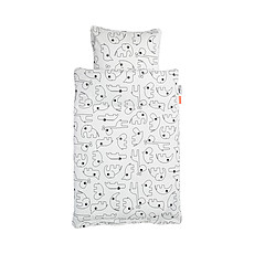 Achat Linge de lit Parure de Lit Contour Blanc - 100 x 140 cm
