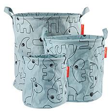 Achat Panier & corbeille Pack de 3 Paniers de Rangement Contour - Bleu