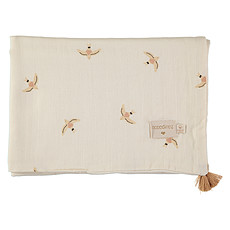 Achat Linge de lit Couverture d'Eté Treasure - Nude Haiku Birds & Natural