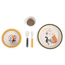 Achat Coffret repas Set Vaisselle 5 Pièces Bambou - Les Moustaches