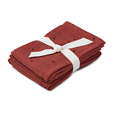 Achat Textile Lot de 2 Langes Hannah - Classic Dot Rusty