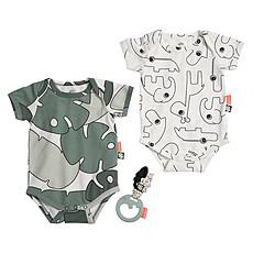 Achat Body & Pyjama Lot de 2 Bodys + Hochet Tiny Tropics - 0-3 mois (56/62cm)