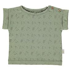 Achat Haut bébé T-Shirt Bourrache Oil Green et Motifs - 6 Mois