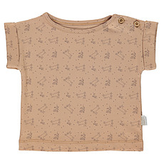 Achat Haut bébé T-Shirt Bourrache Indian Tan et Motifs - 6 Mois