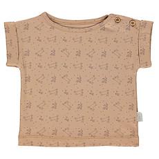 Achat Haut bébé T-Shirt Bourrache Indian Tan et Motifs - 12 Mois