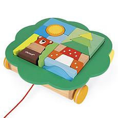 Achat Mes premiers jouets Chariot de Cubes à Promener Zigolos