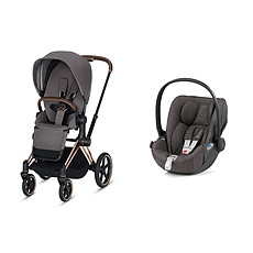 Achat Poussette combinée Poussette Duo Priam Rose Gold et Cloud Z - Grey