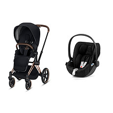 Achat Poussette combinée Poussette Duo Priam Rose Gold et Cloud Z - Black