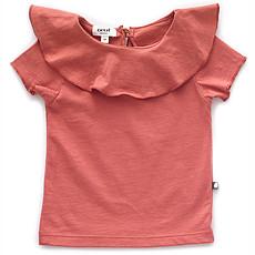 Achat Haut bébé T-Shirt à Volant - Rust