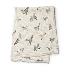 Achat Linge de lit Couverture en Coton Froissé - Feathered Friends